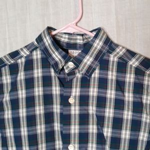 Izod Boy Medium 8 Shirt Top Button Down Longsleeve